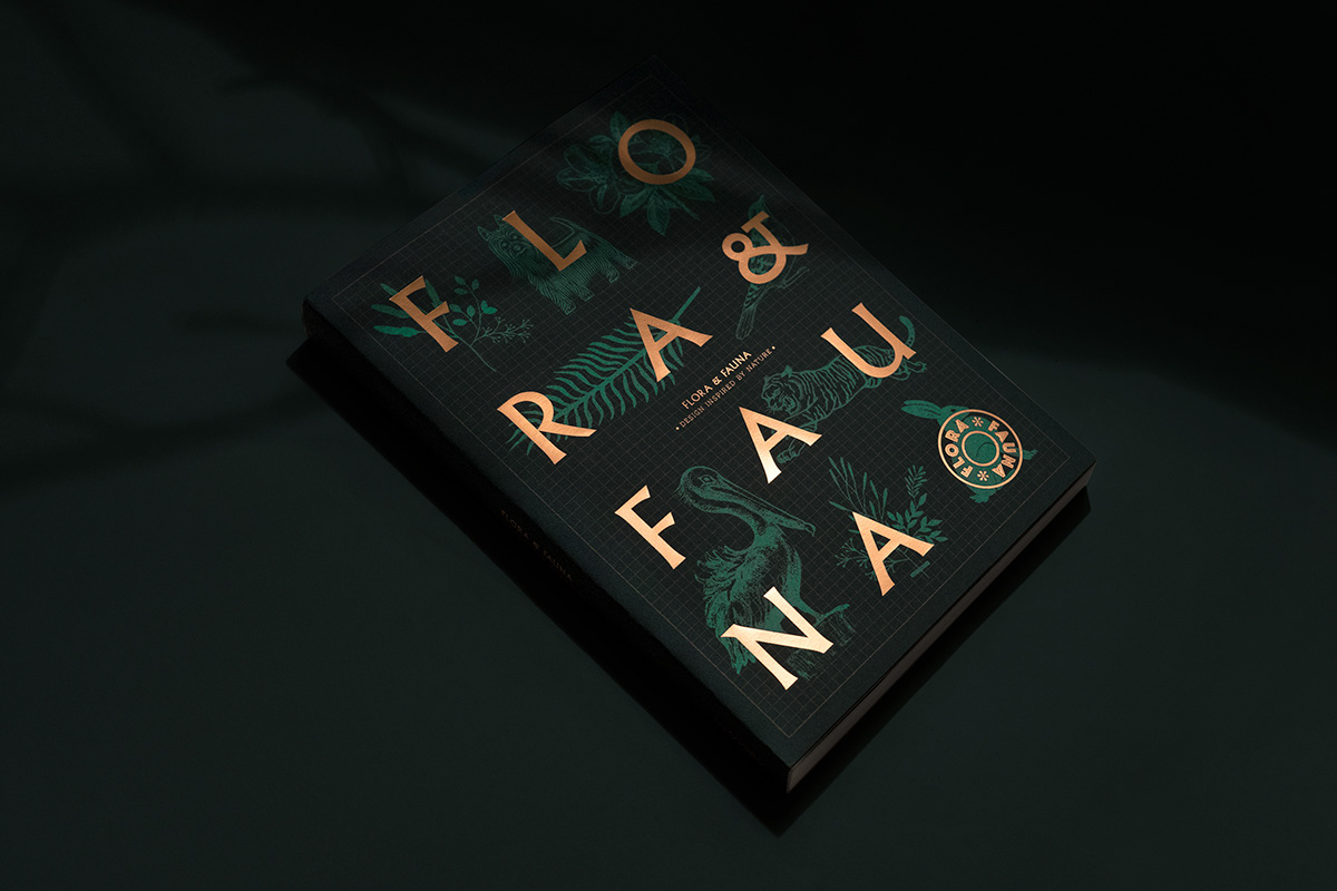 front cover of the book Flora and Fauna on a black background